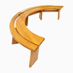 S38 Benches by Pierre Chapo for Chapo, Pierre, 1980s, Set of 2