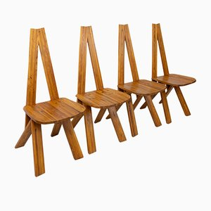 S45 Dining Chairs by Pierre Chapo for Pierre Chapo, 1970s, Set of 4
