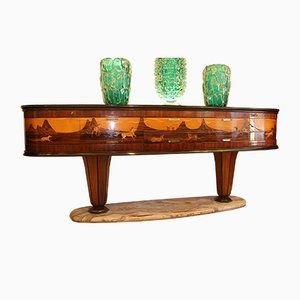 Italian Mid-Century Sideboard with Inlay by Vittorio Dassi for Dassi, 1940s