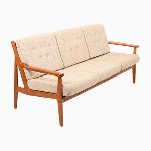 Dänisches Mid-Century 3-Sitzer Sofa aus Teak, 1960er
