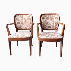Art Deco Armlehnstühle, Schweden, 1950er, 2er Set