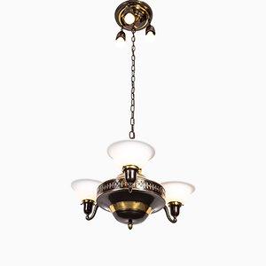 Art Deco Bauhaus Ceiling Lamp, 1920s