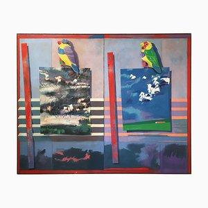 Pintura de malla de Richard Frank, años 80