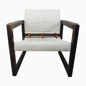 Diana Safari Sessel mit Leinenbezug von Karin Mobring für Ikea, 1972