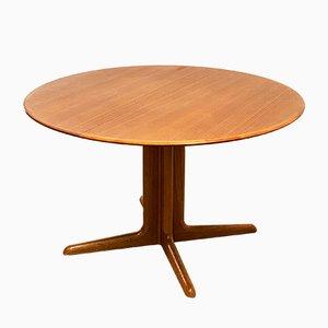 Mid-Century Modern Round Teak Extendable Dining Table, 1960s