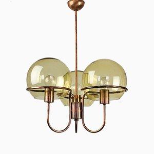 Vintage Minimalist Glass Globes Chandelier