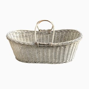Rustic Wood Basket, 1960s