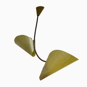 Lampada da soffitto modello 1208 in fibra di vetro di Josef Hurka per Napako, anni '60