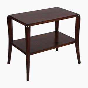 Tavolino da caffè Art Déco in noce con ripiano a pannelli di Paolo Buffa
