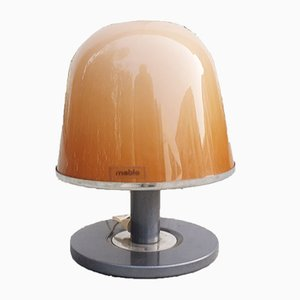 Mid-Century Italian Brown Model Kuala Table Lamp by Franco Bresciani for Guzzini, 1970s