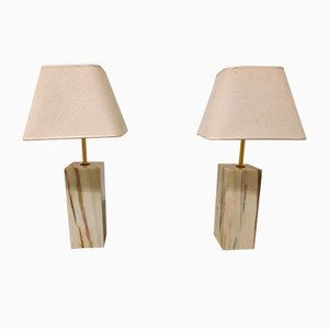 Marble Table Lamps, 1960s, Set of 2