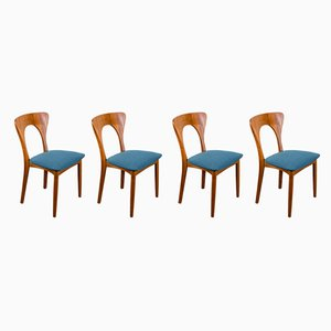 Model Peter Dining Chairs by Niels Koefoed for Koefoeds Hornslet, 1960s, Set of 4
