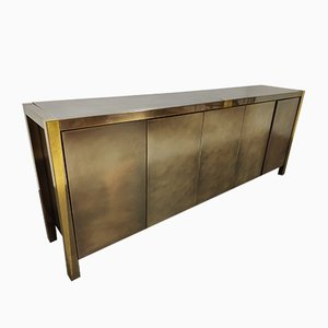 Vintage Brass Credenza from Belgo Chrom / Dewulf Selection, 1980s
