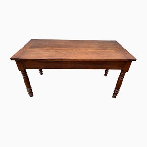 Vintage Farm Kitchen Dining Table in Solid Cherry Wood