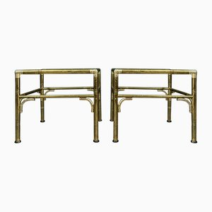 Brass, Gold, and Silver Coffee Tables, 1970s, Set of 2