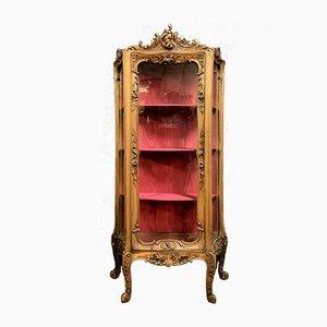 Mueble de pared Luis XV de nogal macizo