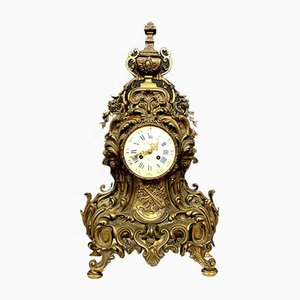 Napoleon III Gilt Bronze Clock