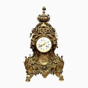 Orologio Napoleone III in bronzo dorato