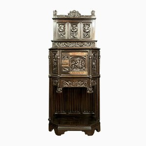 Renaissance Gothic Cabinet with Medieval Scenes