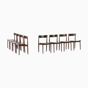 Chaises de Salon Modèle 39 en Palissandre par Henry Rosengren Hansen pour Brande Møbelfabrik, 1960s, Set de 8