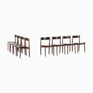 Rosewood Model 39 Dining Chairs by Henry Rosengren Hansen for Brande Møbelfabrik, 1960s, Set of 8