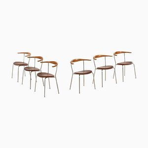 Danish Model JH-701 Armchairs by Hans J. Wegner for Johannes Hansen, 1960s, Set of 6