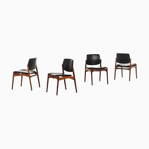 Danish Model Captain Dining Chairs by Erik Buck for Ørum Møbelsnedkeri, 1960s, Set of 4
