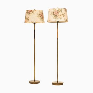 Finnish Floor Lamps Attributed to Paavo Tynell, 1950s, Set of 2