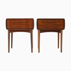 Rosewood Bedside Tables by Johannes Andersen, 1960s, Set of 2