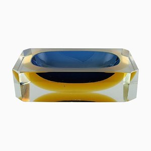 Square Murano Bowl in Mouth Blown Art Glass, 1960s