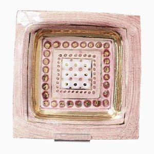 Französischer Dekorativer Teller aus Keramik von Georges Pelletier, 1960er