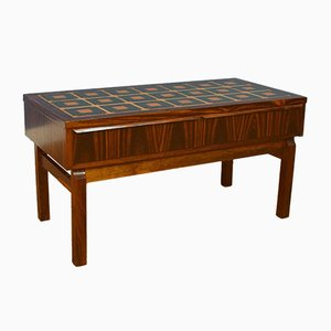 Mid-Century Danish Rosewood & Tile Console Hall Table, 1960s