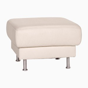 White Leather Ottoman from Musterring