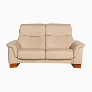 Cream Leather Paradise 2-Seat Sofa from Stressless