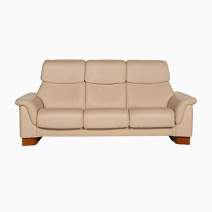 Cream Leather Paradise 3-Seat Sofa from Stressless