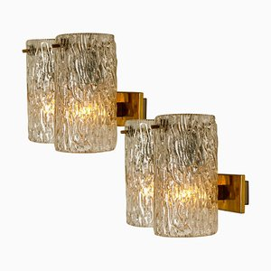 Bubble Glass Sconces from Hillebrand, 1960s, Set of 2