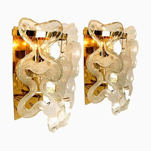 Wall Sconces or Lights Model Catena by J.T. Kalmar, Austria, 1960s, Set of 2