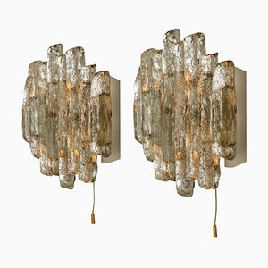 Glass Sconces by J.T. Kalmar, Austria, 1960s, Set of 2