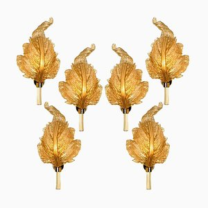 Gold Murano Glass Wall Sconce from Barovier & Toso, Italy, 1960s