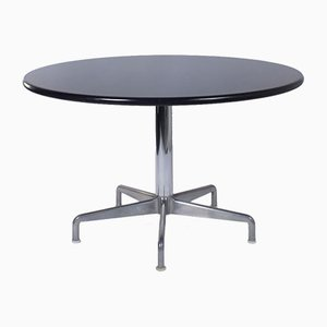Round Black Dining Table by Anna Castelli for Castelli, Italy, 1960s