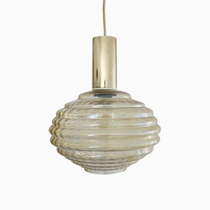Glass Pendant Lamp by Helena Tynell for Limburg, Germany, 1960s