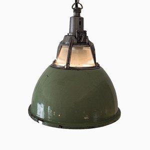 Ukrainian Industrial Mint Green Alma Lamp, 1960s