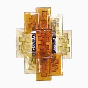 Danish Modern Glass Model 5175 Wall Sconce by Svend Aage Holm Sørensen, 1960s