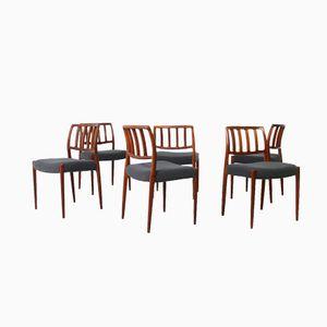 Model 83 Dining Chairs by Niels O. Møller for J.L. Møllers, Set of 6