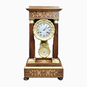 French Rosewood Portico Mantel Clock, 1870s