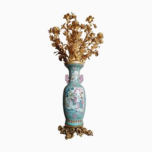 Large Gilt Bronze Vase