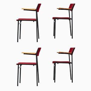 Mid-Century Dining Chairs by Gijs van der Sluis for Van der Sluis Stalen Meubelen, Set of 4
