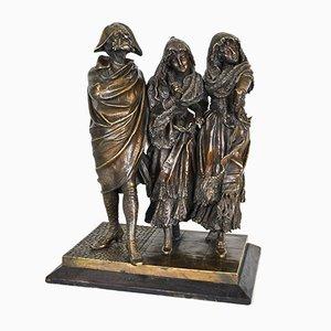 Escultura de figuras elegantes de bronce