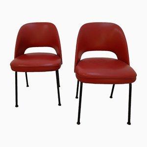 Beistellstühle im Guariche Stil von Pierre Guariche für Meurop, 1960er, 2er Set