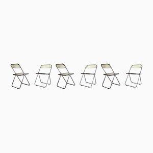 Third Folding Chairs by Giancarlo Piretti for Castelli / Anonima Castelli, 1960s, Set of 6